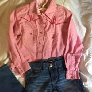 shirt is wrangler and jordache jean 6